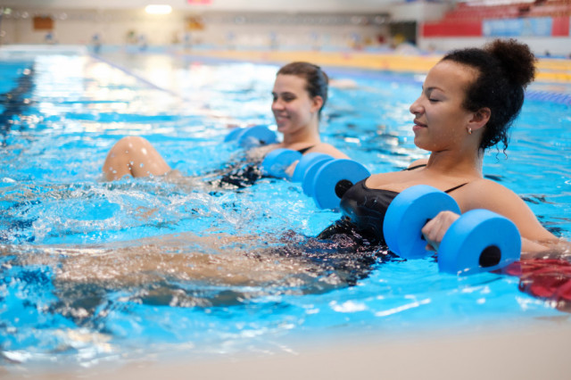 Aquatic Therapy in the Pool with OrthoCarolina