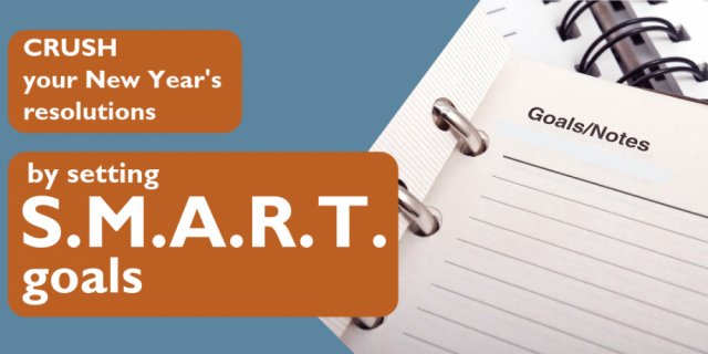Crush your New Year's Resolutions by setting S.M.A.R.T. goals