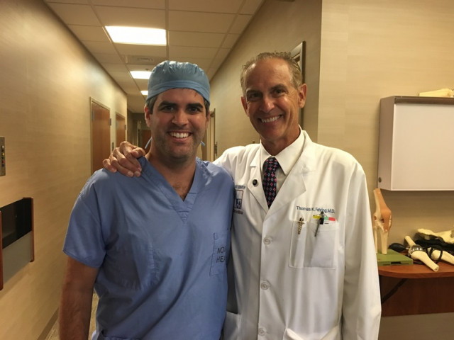 A Tale of Two Surgeons: Father and Son, Working Side by Side