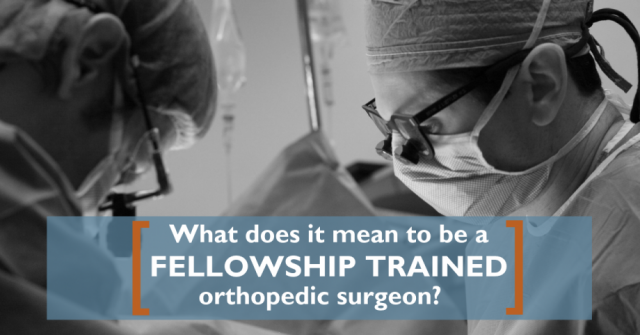 Fellowship Trained Surgeons OrthoCarolina