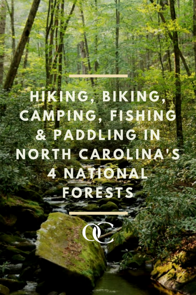 Hiking, Biking, camping, fishing, and paddling in North Carolina's 4 National Forests