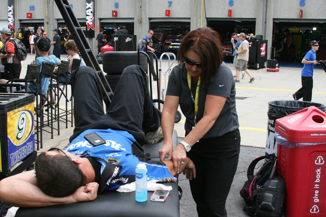Meet Angela Shirk, NASCAR Athletic Trainer