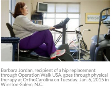Local patients receive free joint replacements through national organization