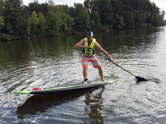 Paddling around Winston-Salem