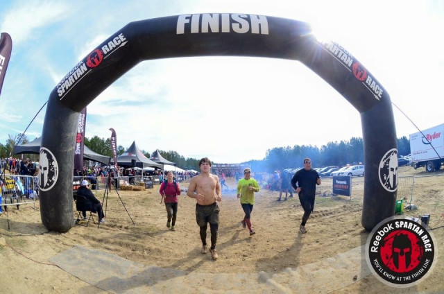 Finish line of Spartan Race
