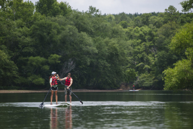 Paddle Boarding at the White Water Center