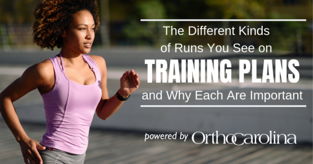 The Different Kinds of Runs You See on Training Plans and Why Each Are Important