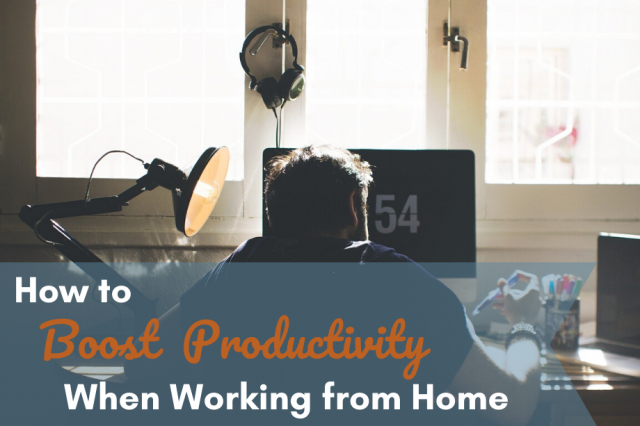 How to Boost Productivity When Working from Home by OrthoCarolina