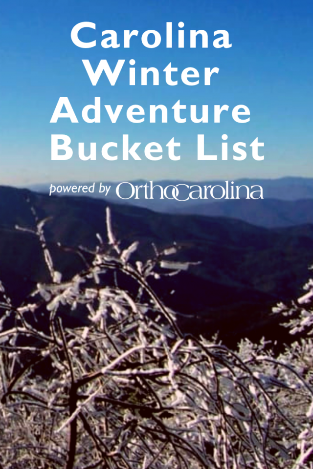 Carolina Winter Adventure Bucket List