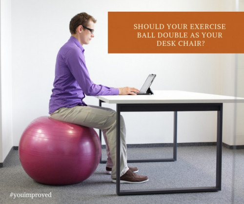 Sitting On A Yoga Ball Exercise
