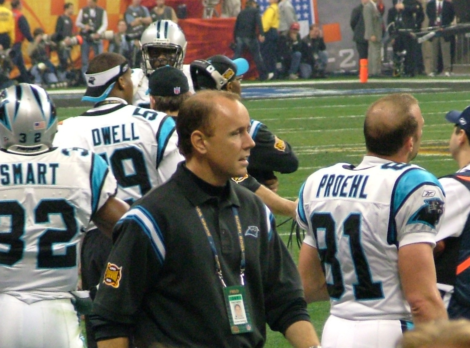 OrthoCarolina's Dr. Pat Connor is on the sidelines at each Panthers game.