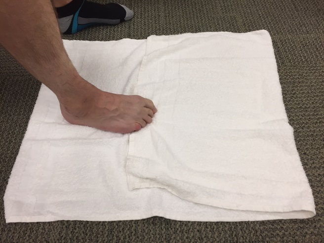 Stretches using towel