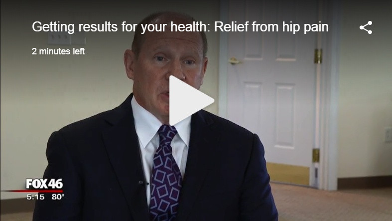 Fox 64 news gets Dr. Edward Brown of orthocarolina to discuss hip pain