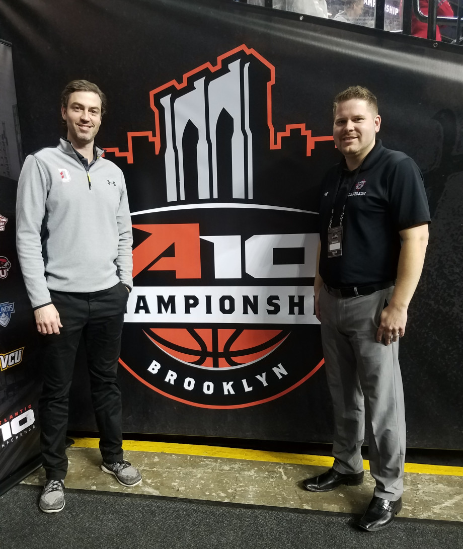 OrthoCarolina's Dr. Durham Weeks and PA Jeff Dabkowski travel to the conference championship with the Davidson College men's basketball team.