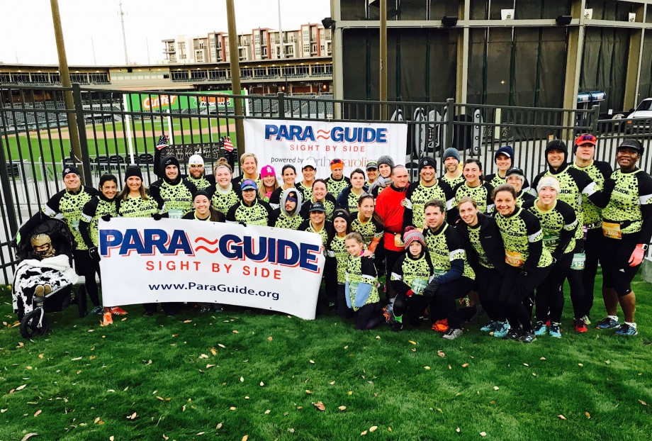 Para-Guide Team at the 2017 Charlotte Marathon.