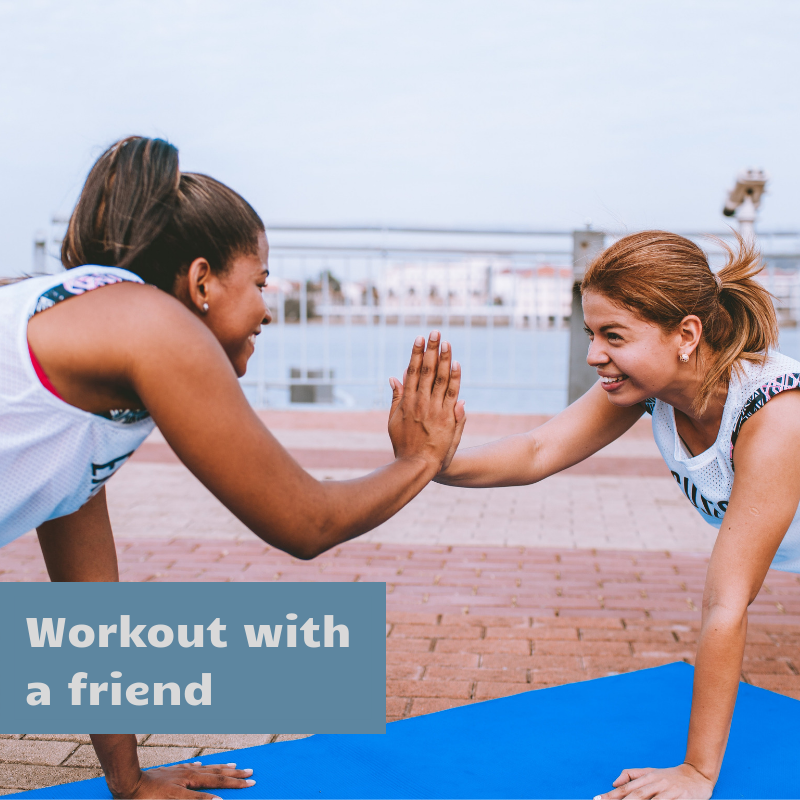workout with a friend